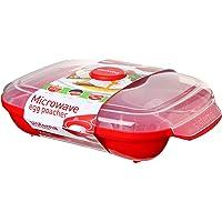 Sistema Microwave eierpochier voor 4 eieren, rood