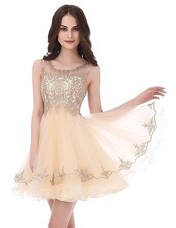 Beige Short Homecoming Dresses