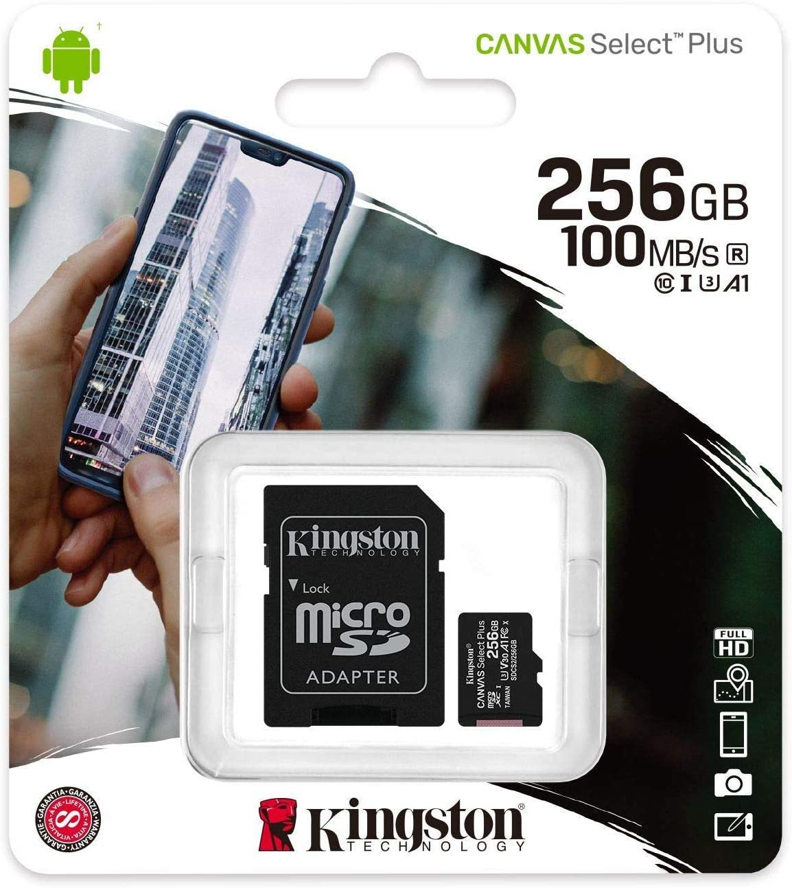 Kingston 256GB Microsoft Surface Pro 3 64GB MicroSDXC Canvas Select Plus Card Verified by SanFlash. 100MBs Works with Kingston