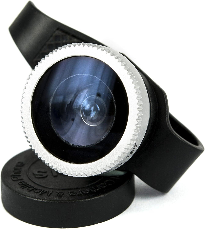 HSINI 180 Degree Fish Eye Detachable Clip-On Lens Portable Camera Cover for Apple 4/5/5c/5s/iPad mini/iPad Air - Black