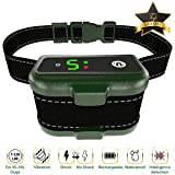 [NEWEST 2018] RECHARGEABLE Bark Collar - Smart Detection Chip - Dual Stop Anti-Barking Mode: Beep/Vibration, Shock for Small, Medium, Large Dogs - IPx7 Waterproof - No Bark Safe