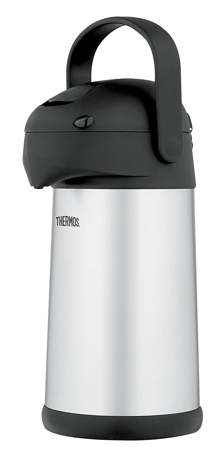 Amazon.com: Thermos Stainless Steel 2.7-Quart Pump Pot: Insulated ...