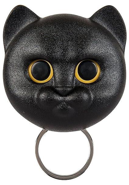 Qualy Neko gato pared Llavero Holder Gancho abre los ojos ...