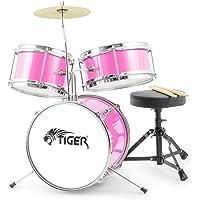 Tiger JDS7-PK - Batería infantil de 3 piezas, color rosa