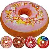 Donut Kissen 40 cm Super Softes Dekokissen dekoratives Zierkissen Sitzkissen extra dick und extra flauschig Variante wählbar, Farbe:Rosa