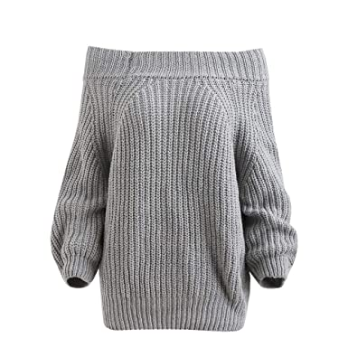 Autumn Winter 2018 Sale Clearance Women Vogue Off Shoulder Pullover Chunky  Sweater Top Knitted Sweater Blouse 869f2b249