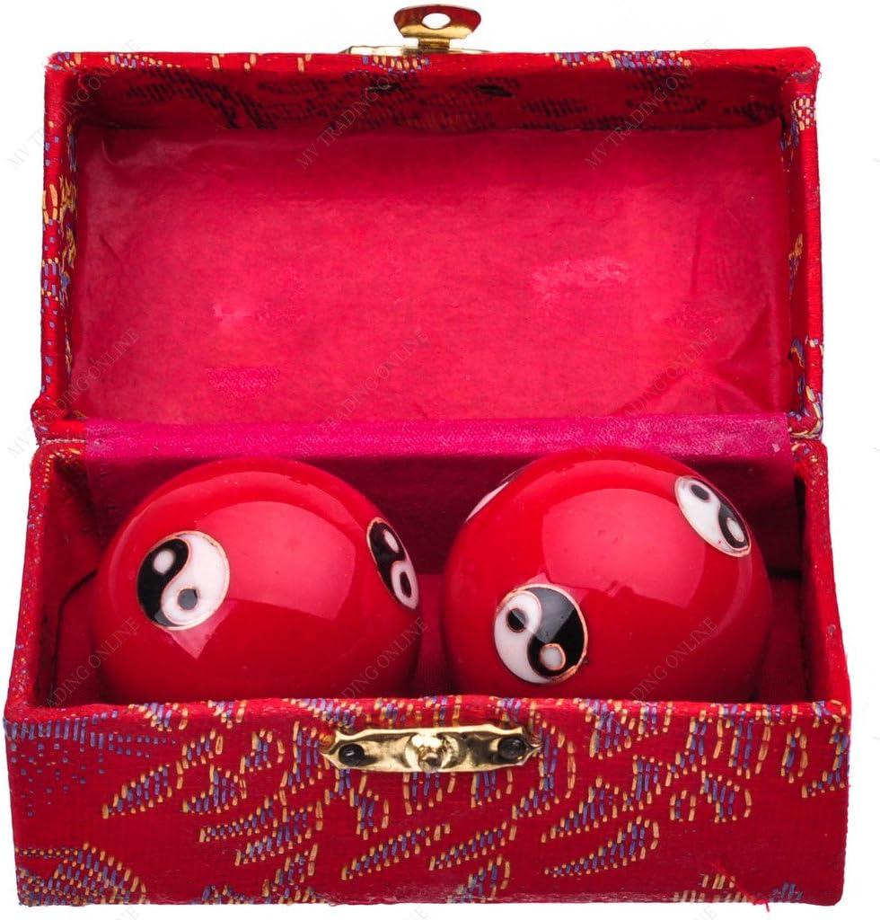 "Dragon /& Phoenix Cloisonne Chinese Baoding Chime Harmony Health Balls 1.5/"" Size"