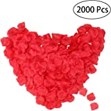 WINOMO 2000pcs réaliste artificiel des soie pétales Rose du rouge décorations pour fête de mariage
