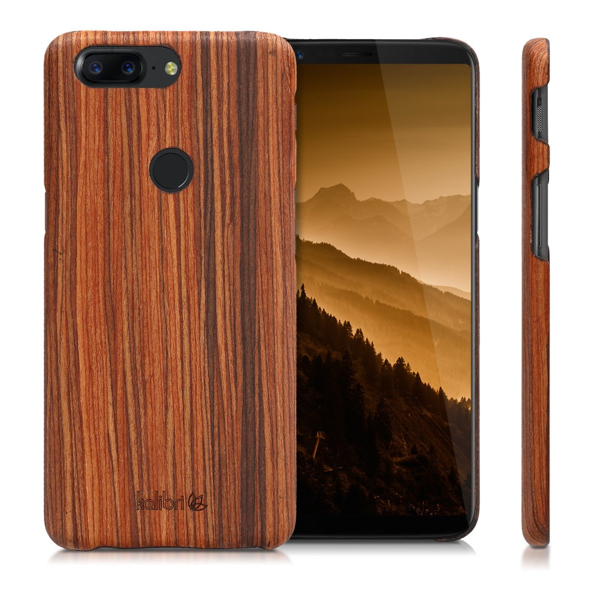 separation shoes 2e3bb ba420 kalibri OnePlus 5T Wood Case - Ultra Slim Natural Hard Wooden Protective  Cover for OnePlus 5T