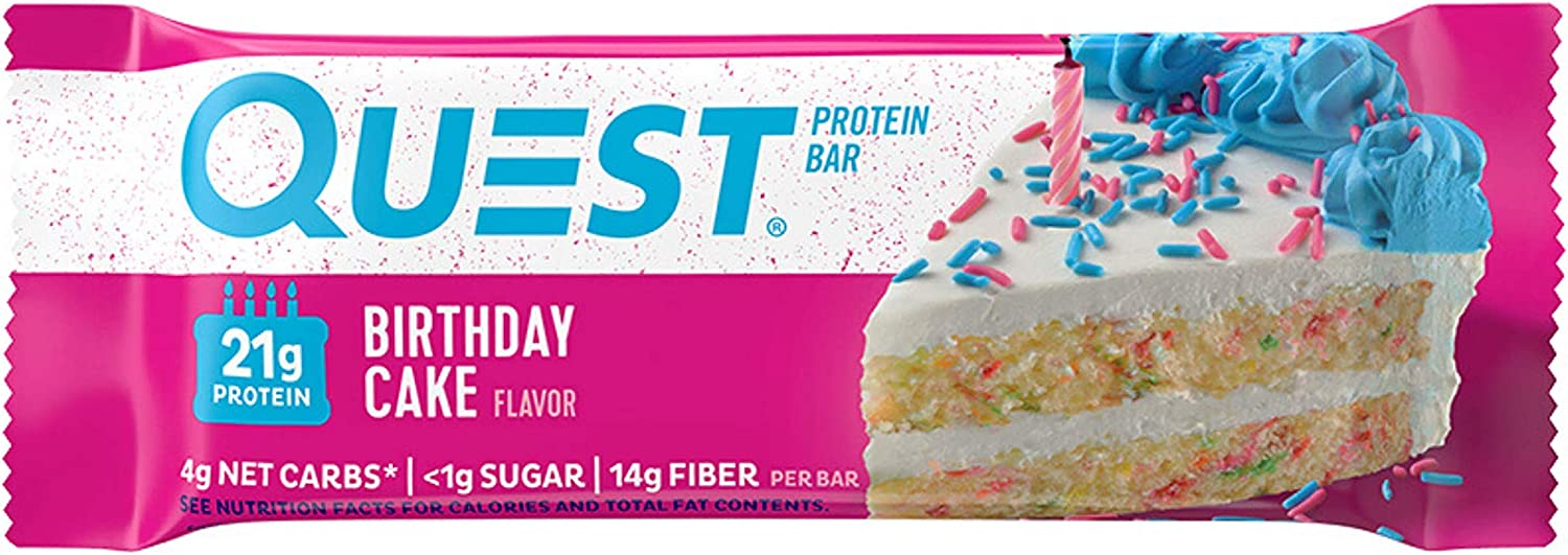 Enjoyable Quest Nutrition Bars 60 G Birthday Cake Pack Of 12 Amazon Co Funny Birthday Cards Online Alyptdamsfinfo