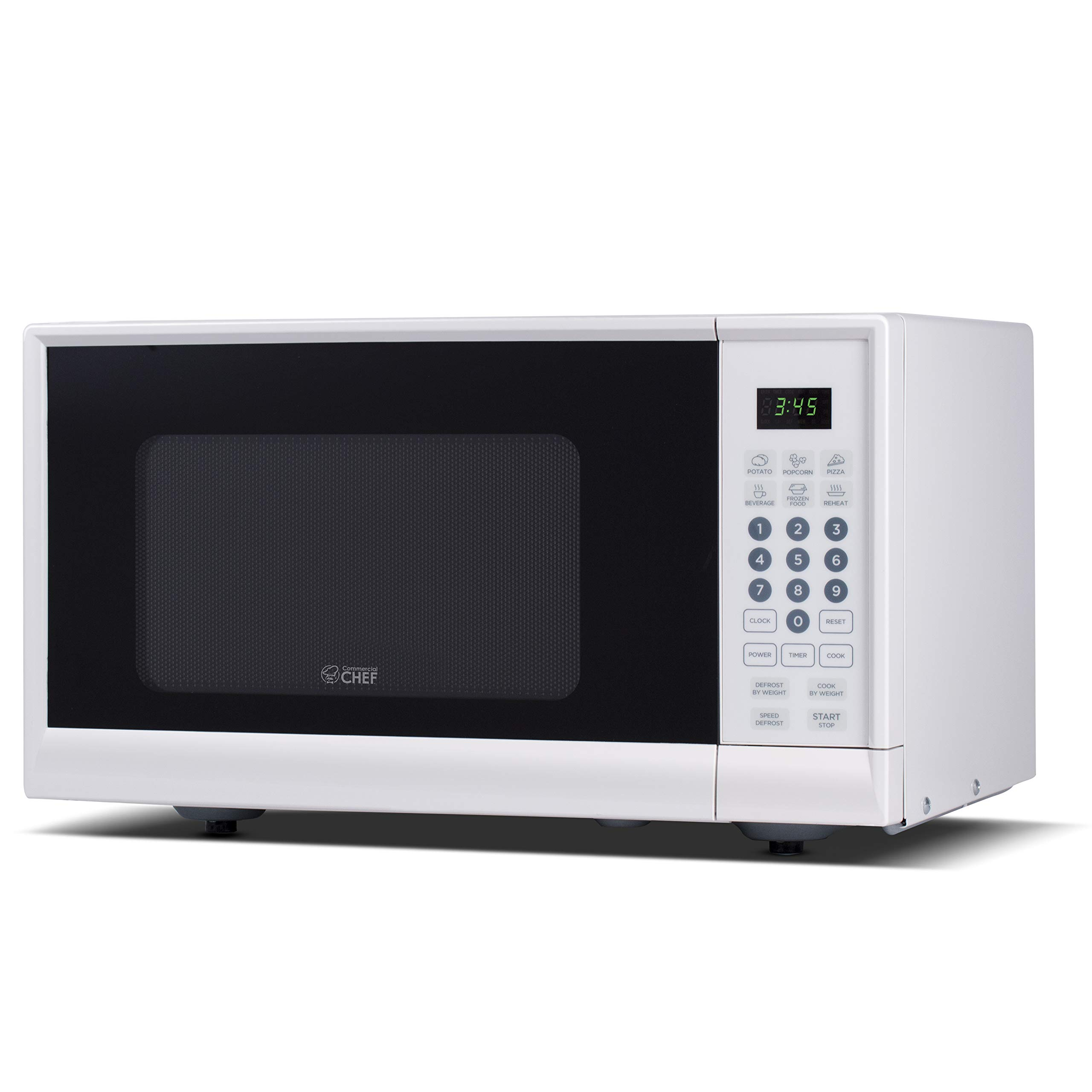Commercial Chef CHM990W 900 Watt Counter Top Microwave Oven, 0.9 Cubic Feet, White Cabinet by Commercial CHEF