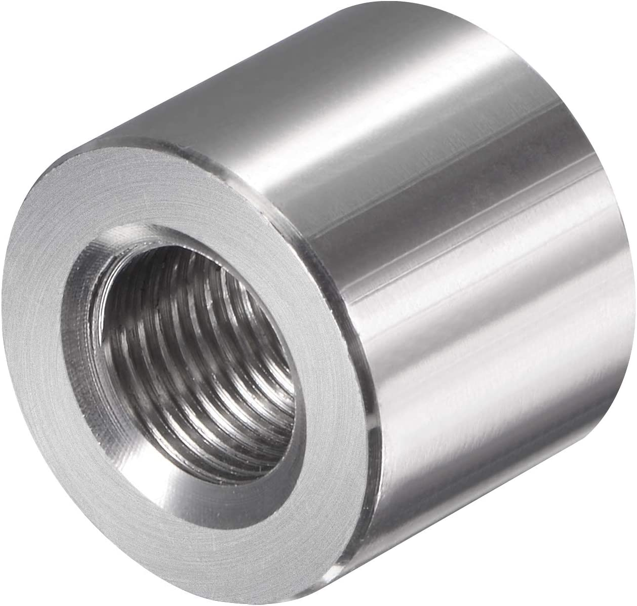 sourcing map Round Weld Nuts Stainless Steel Insert Weldable G1//8 Weld on Bung Female Nut Threaded
