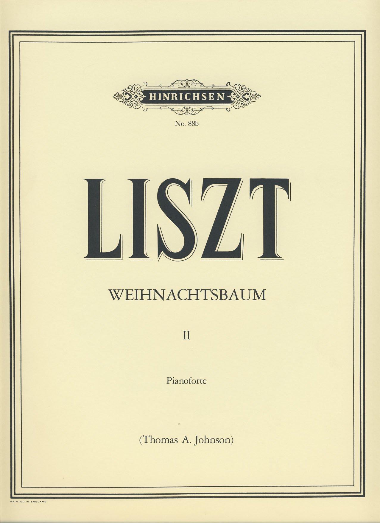 Weihnachtsbaum England.Liszt Arbol De Navidad Weihnachtsbaum Vol 2 Para Piano Johnson