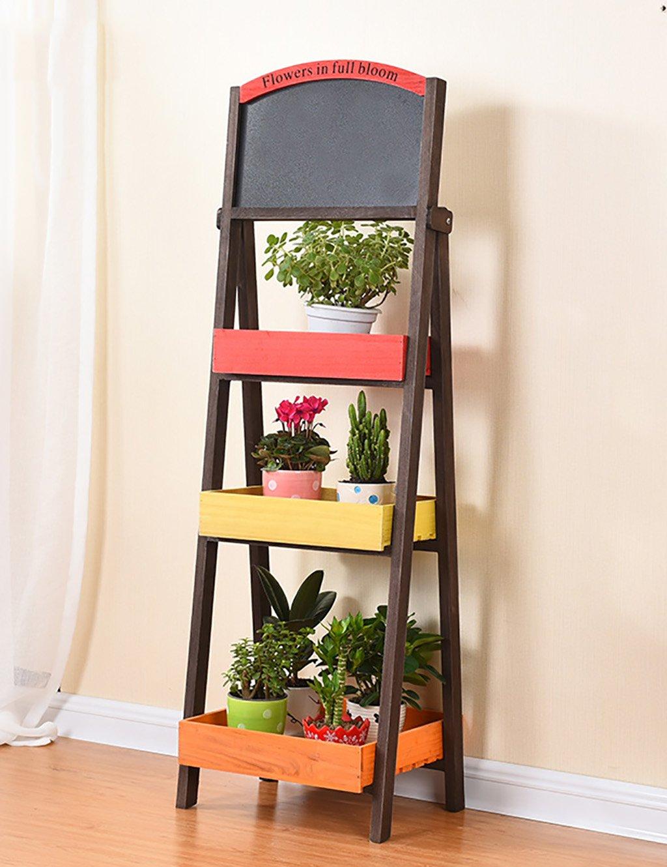 Einfache Kreativität Holz Multilayer Blumenregal Regal Balkon Boden Pflanzer Regal Einfache Modern Living Room Indoor Blumenregal