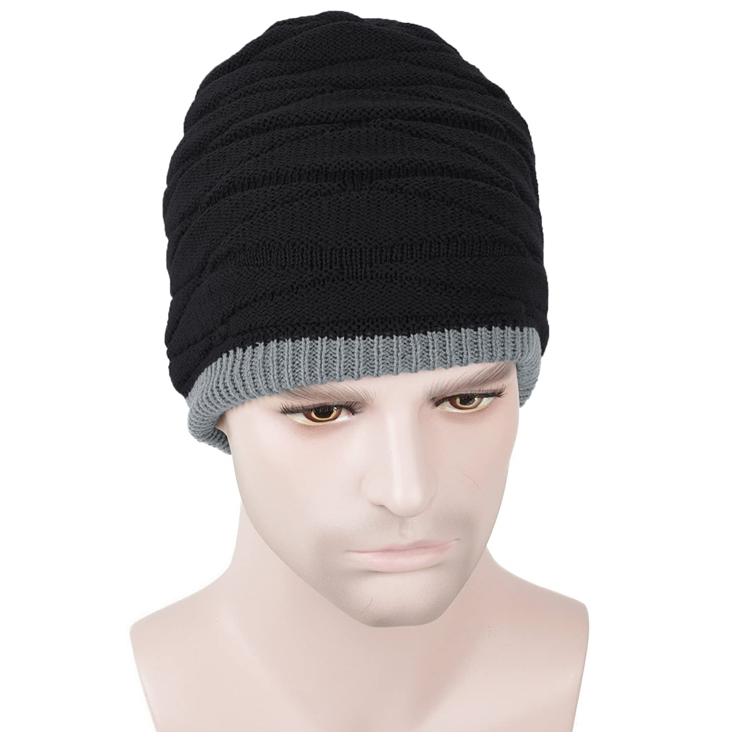 80f3e045 Men Women Daily Comfort Beanie Hat Knit Skull Cap for All Season/Sports/ Fitness/Workout (Black) at Amazon Men's Clothing store: