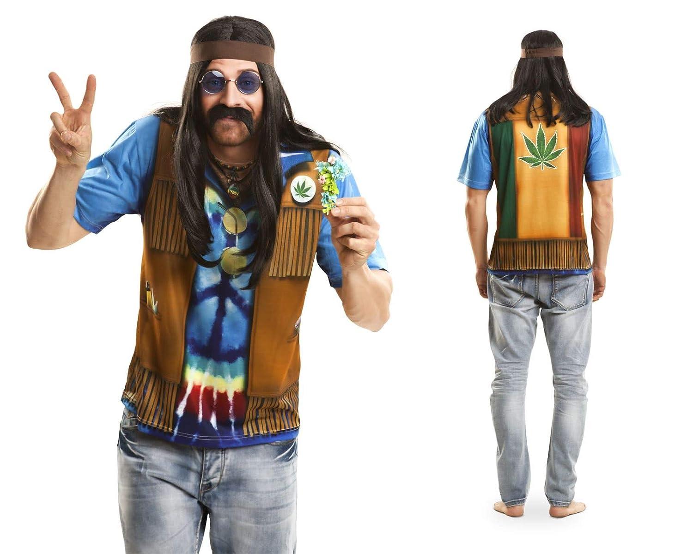 Disfraz Camiseta de Hippie Original de Carnaval para Hombre XL de ...