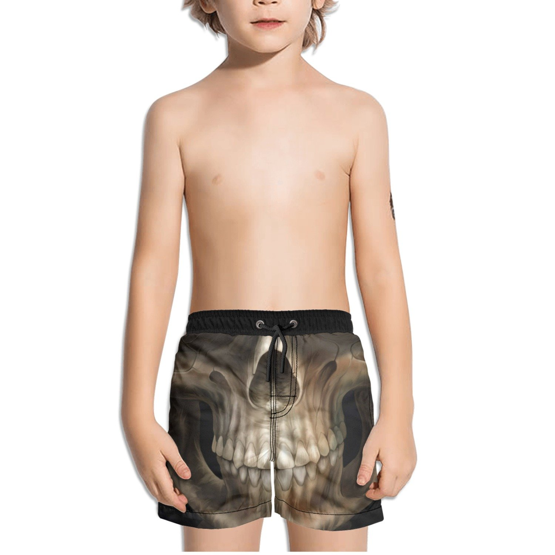 Ouxioaz Boys Swim Trunk Cool Wallpaper Skull Background Beach Board Shorts
