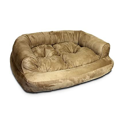 Beautiful Snoozer Overstuffed Luxury Pet Sofa, Large, Peat