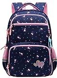 Kid Child Girl Multipurpose Dot Backpack School Bag (16 L, Style B Dark Blue)