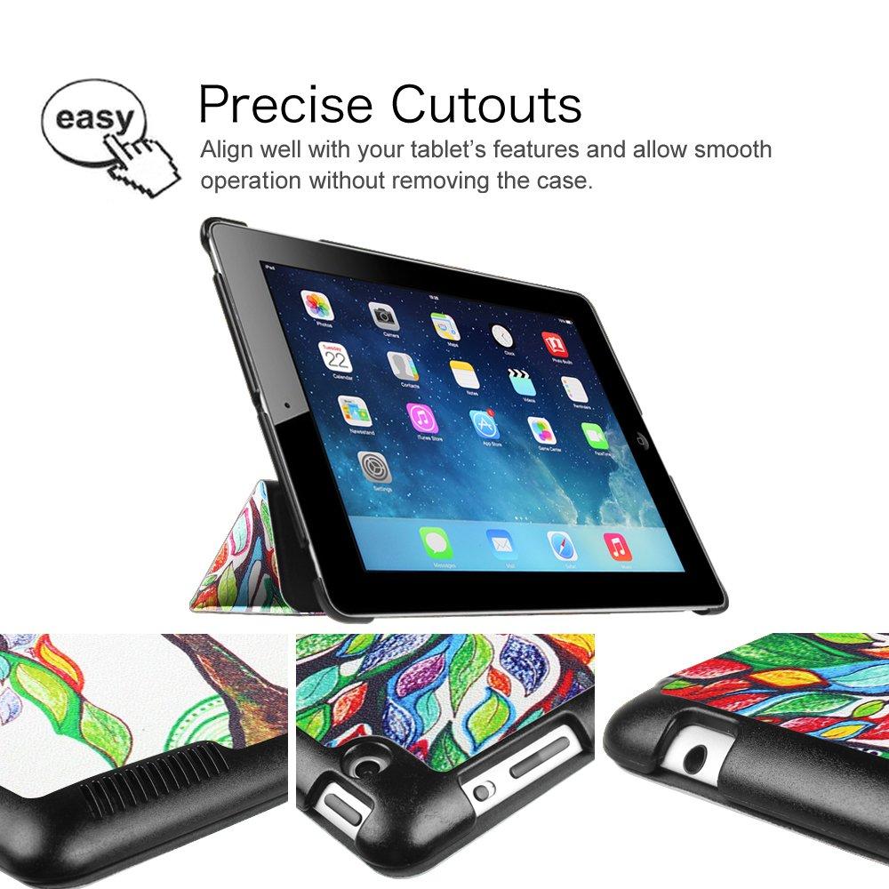 Fintie Apple iPad 4 Galaxy 4 iPad 2 Custodia Ultra Sottile Di Peso Leggero Cover Custodia Protettiva Case con Funzione Auto Sonno//Sveglia per Apple iPad 2//3 iPad 3