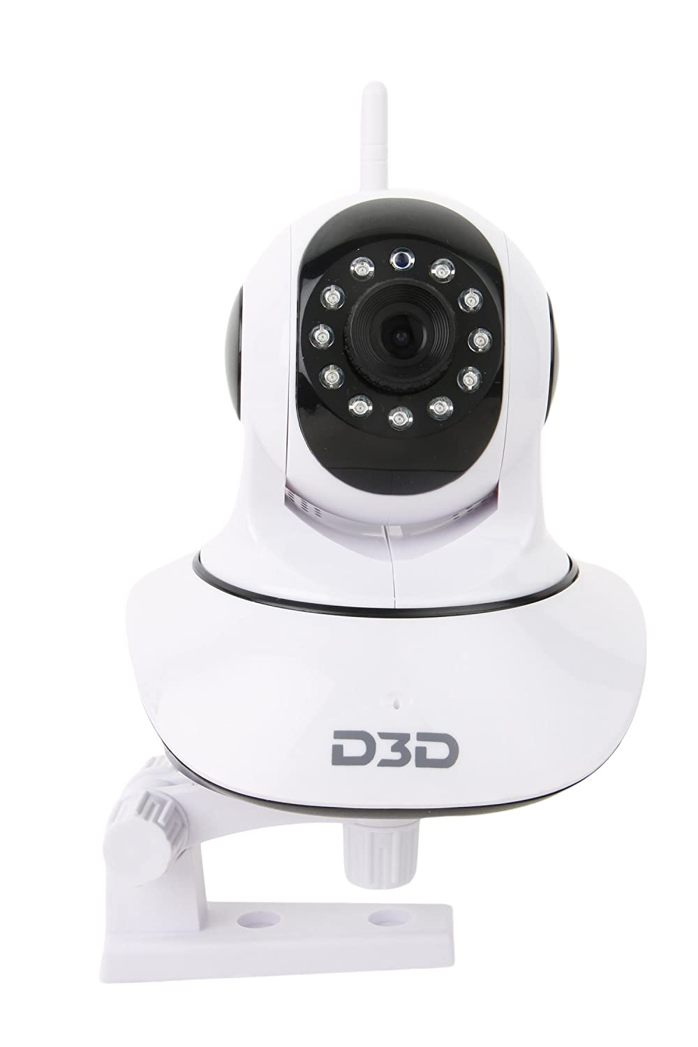 Buy D3d Wireless Hd Ip Wifi Cctv Indoor Security Camera Support Wiring Two Way Light Switch Ceiling Rose Upto 128 Gb Sd Card White Color Modeld8810 Online At Low Price In India
