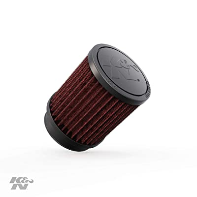 K&N Universal Clamp-On Air Filter: High Performance, Premium, Washable, Replacement Engine Filter: Flange Diameter: 2.5 In, Filter Height: 4 In, Flange Length: 1 In, Shape: Round, RB-0700: Automotive