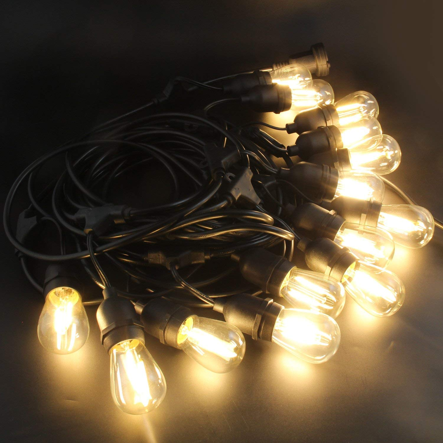 Only compatible with BRIMAX outdoor string lights BRIMAX 9.8Ft//3m Festoon Lights Waterproof Outdoor Extension Lead for BRIMAX S14 LED IP65 48ft Festoon Lights,