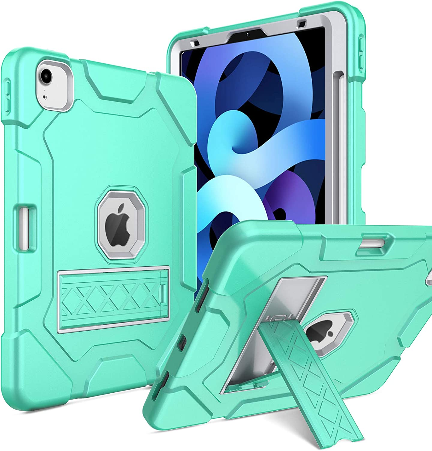 Elegant Choise New iPad Air 4th Gen 10.9 inch 2020 Case, iPad Pro 11 Case 2020/2018 Support Apple Pencil 2nd Gen Charging,Hybrid Three Layer Full Body Rugged Protective Case Cover