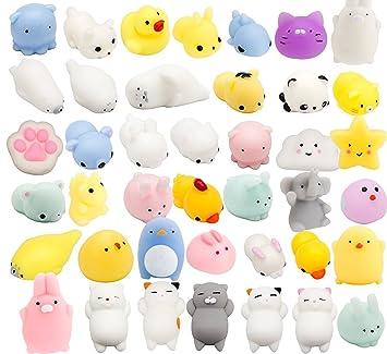 SolSun SQUISHY - 15 piezas aleatorias - Regalo original para niños y adultos - Best Squishies Animales Silicona