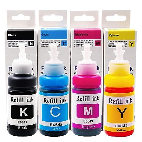 Amazon.com: topcolor 4 x de repuesto recambios de tinta T664 ...