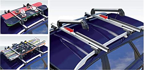Skiträger Silver Ice Ausziehbar Alu Dachträger Rb003 Kompatibel Mit Suzuki Vitara 5türer Ab 2015 Auto
