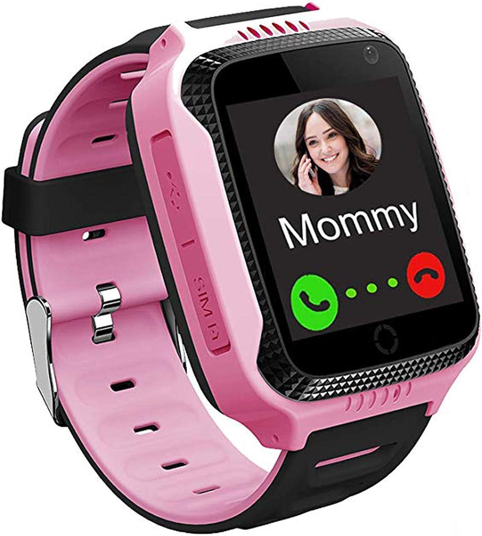 AGPS Tracker Smartwatch para Niños - SmartWatch Phone con Localizador AGPS LBS Cámara SOS Linterna Chat de Voz Juego de Relojes para Niños Niña, Regalo para el Estudiante de Regreso a la Escuela