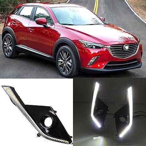 DongZhen LED DRL lámpara de conducción para Mazda CX-3