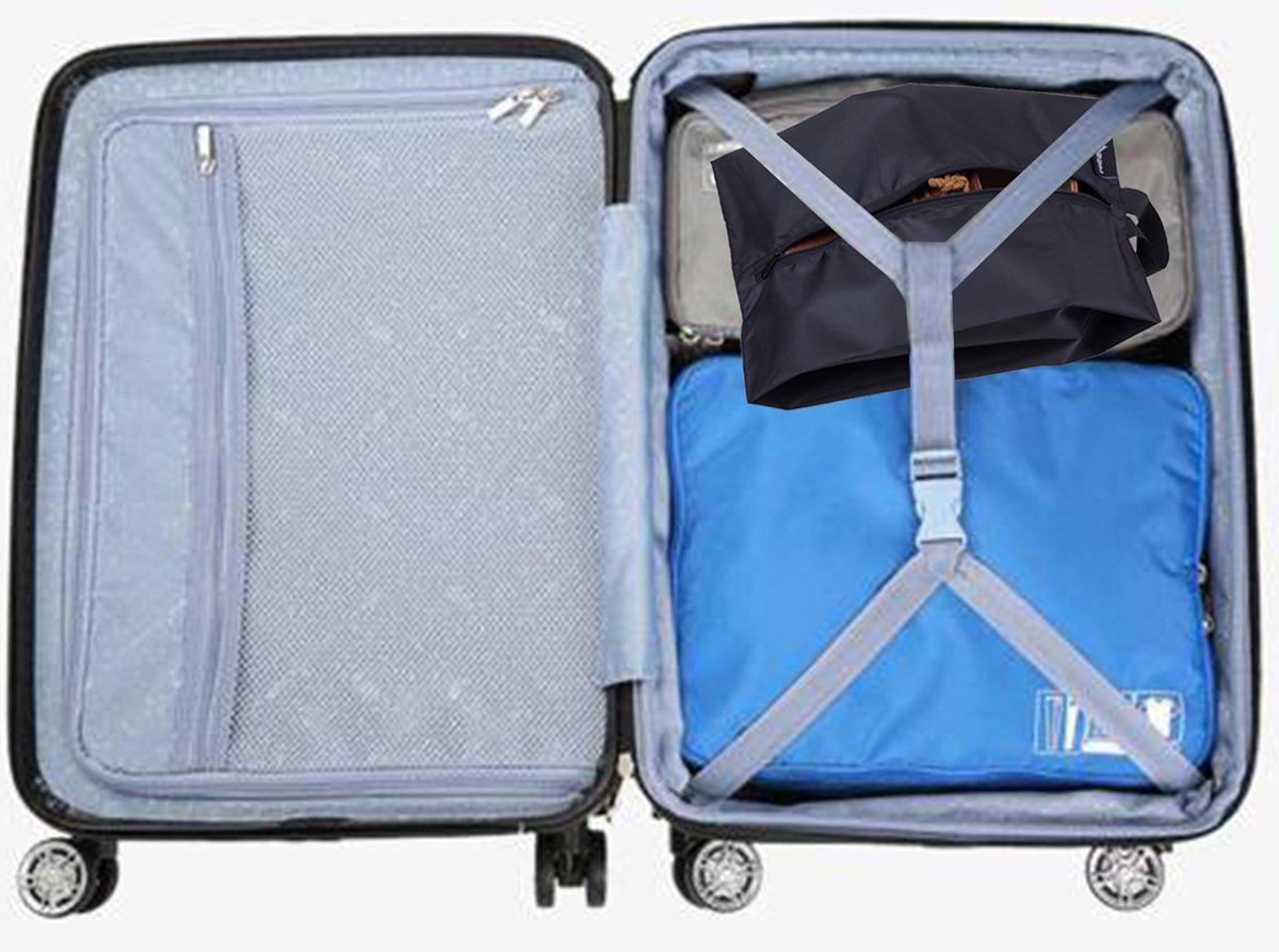 MISSLO Portable Nylon Travel Shoe Bags with Zipper Closure (Pack 4, Black) by MISSLO (Image #7)