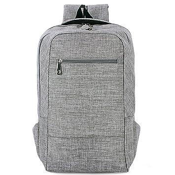 MG-N Bolsos Maletas Mochila De Lona, Bolso Casual Paquete Apta Para Portátil De 15,6 Pulgadas Para Empresas De Viajes Escolares (Color : Gray): Amazon.es: ...