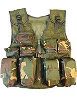Niños camuflaje del ejército Asalto Vest - Se adapta Edad 5-14