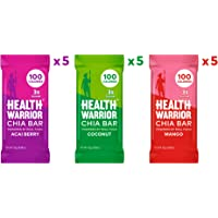 15-Count Health Warrior Chia Bars Tropical Variety Pack