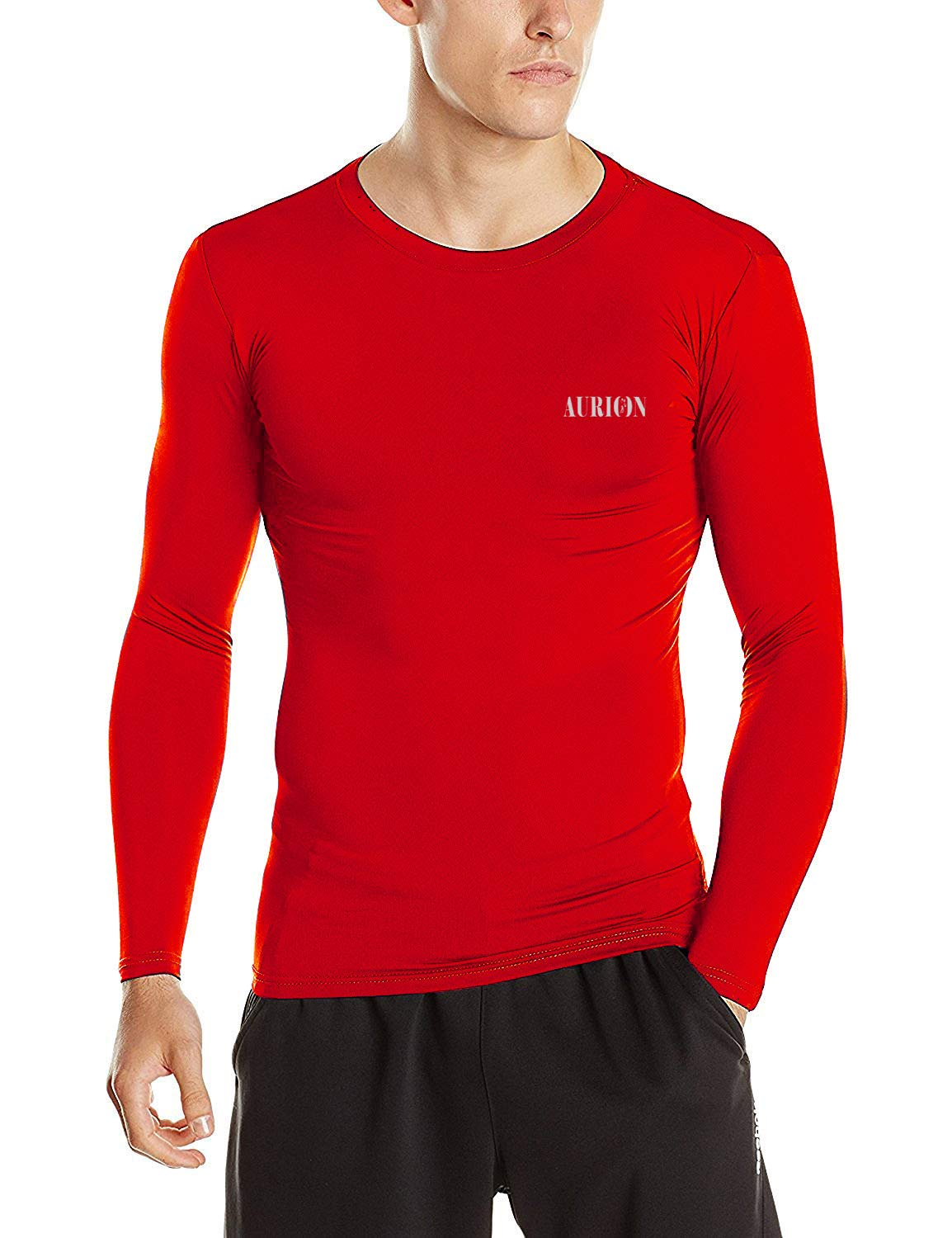 Aurion Inner-Lycra-RED-(38) Synthetic Unisex Lycra Athletic Multi Sports Compression Top, Medium (Red) (B07PDW4RS2) Amazon Price History, Amazon Price Tracker