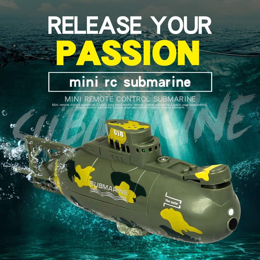 KINGDUO Mini Micro Radio Remote Control Rc Submarine Ship Boat With Led Light Toy Gift
