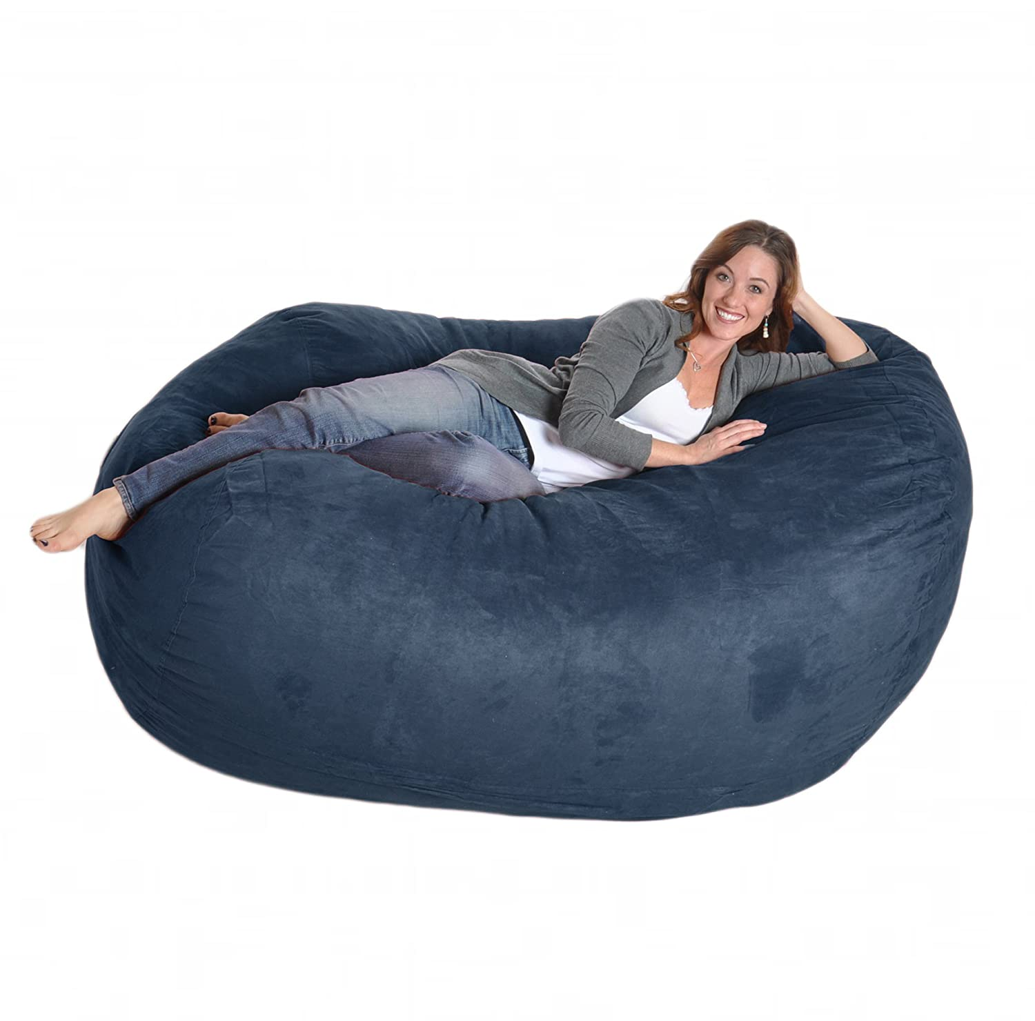 Amazon SLACKER sack 6 Feet Memory Foam Microsuede Beanbag