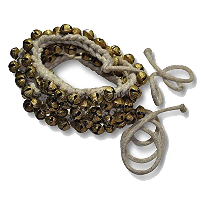 Ghungroo 50-50 Bells Pair, Ghungru 2 cm 50 Bells, 16 No. Ghungroo Big Bells (Total 100 Bells) Dancing Bells Anklets Ghungroo Kathak anklet women dance accessories