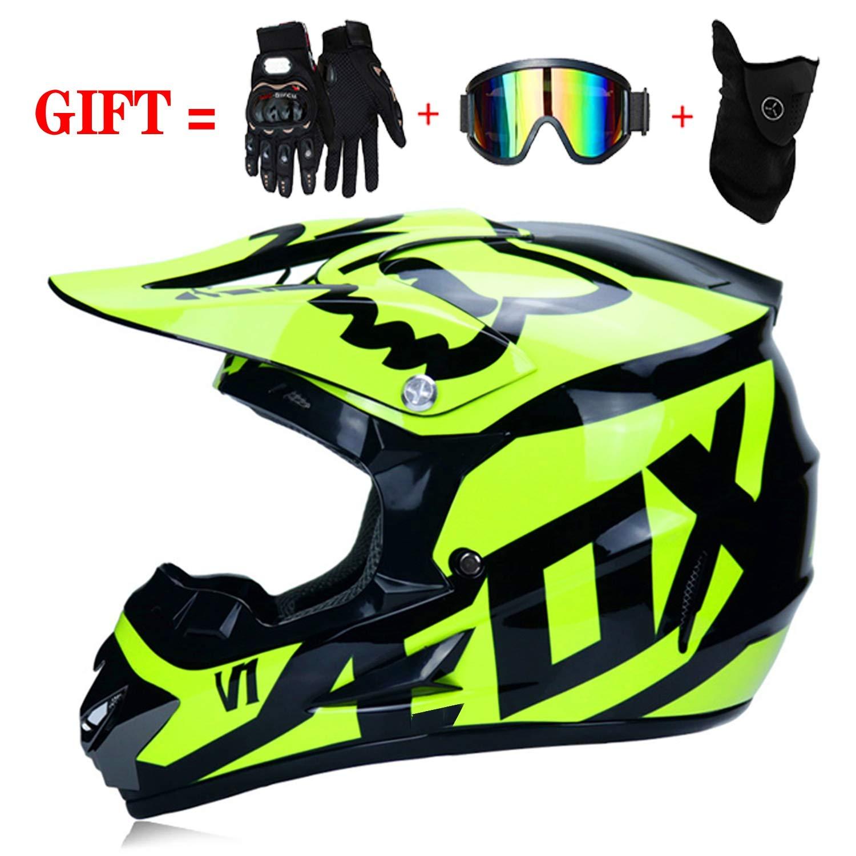 f/ür Erwachsene Jugend Junior Kinder Kinder LLLD Helm Safe Full Face Classic Fahrrad MTB Dh Racing Helm Motocross Downhill Fahrradhelm Capacetes Motocross