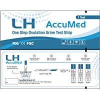 AccuMed Ovulation (LH) Test Strips Kit, Clear and Accurate Results, Over 99% Accurate, 100 Count (Expires 9/15/2019)