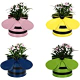 Trust Basket Bee Planters (Multicolour, Pack of 4)