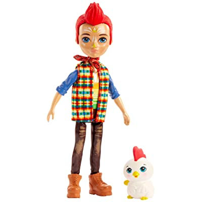 Enchantimals Redward Rooster Doll (6-in) & Cluck Animal Friend Figure: Toys & Games