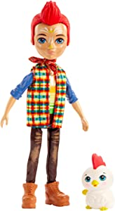 Enchantimals Redward Rooster Doll & Cluck Animal Friend Figure, 6-inch Small Doll with Bandana, t-Shirt, Jeans, and Shoes, Great Gift for 3 to 8 Year Olds [Amazon Exclusive]