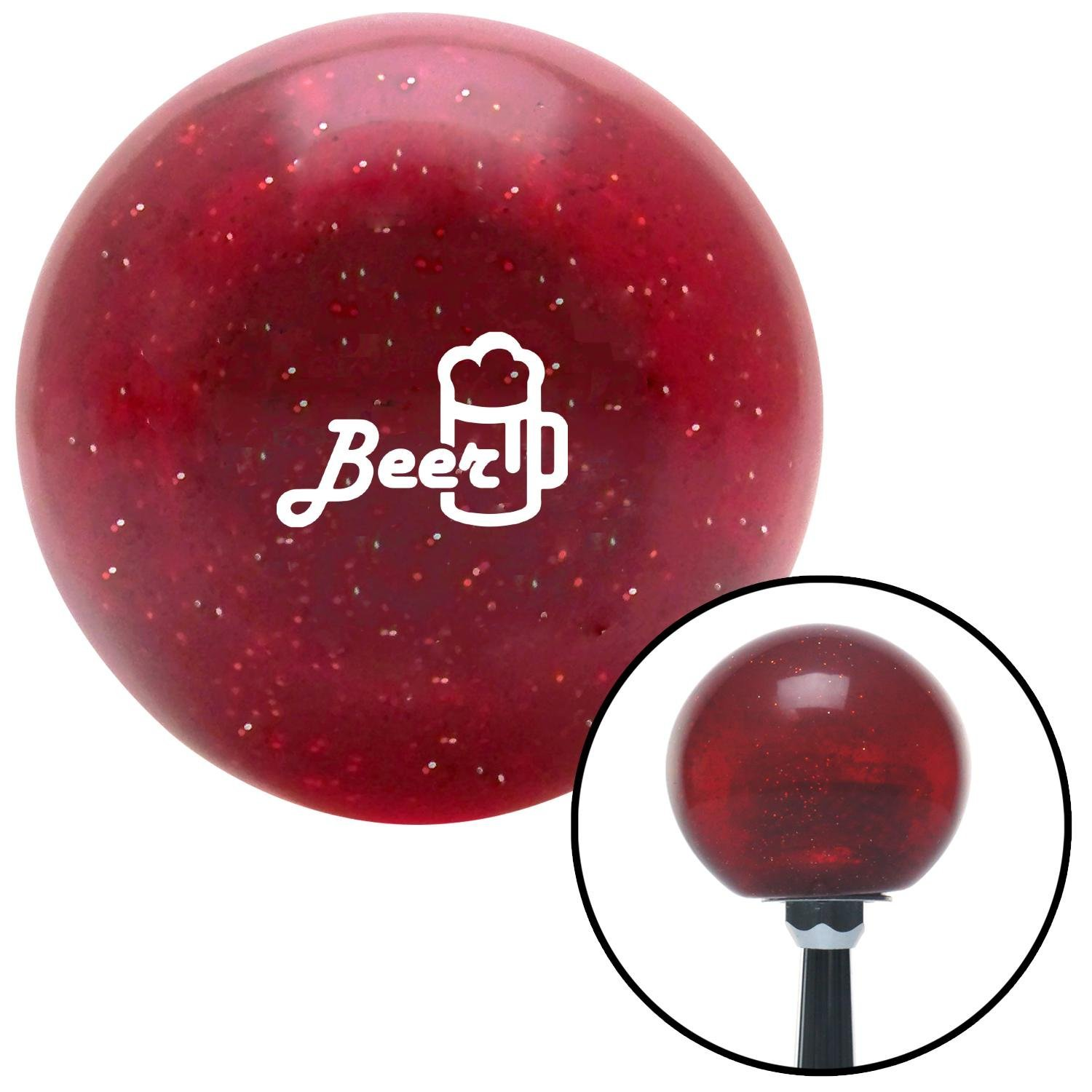 White Broken Directional Arrow Up American Shifter 103577 Black Shift Knob with M16 x 1.5 Insert