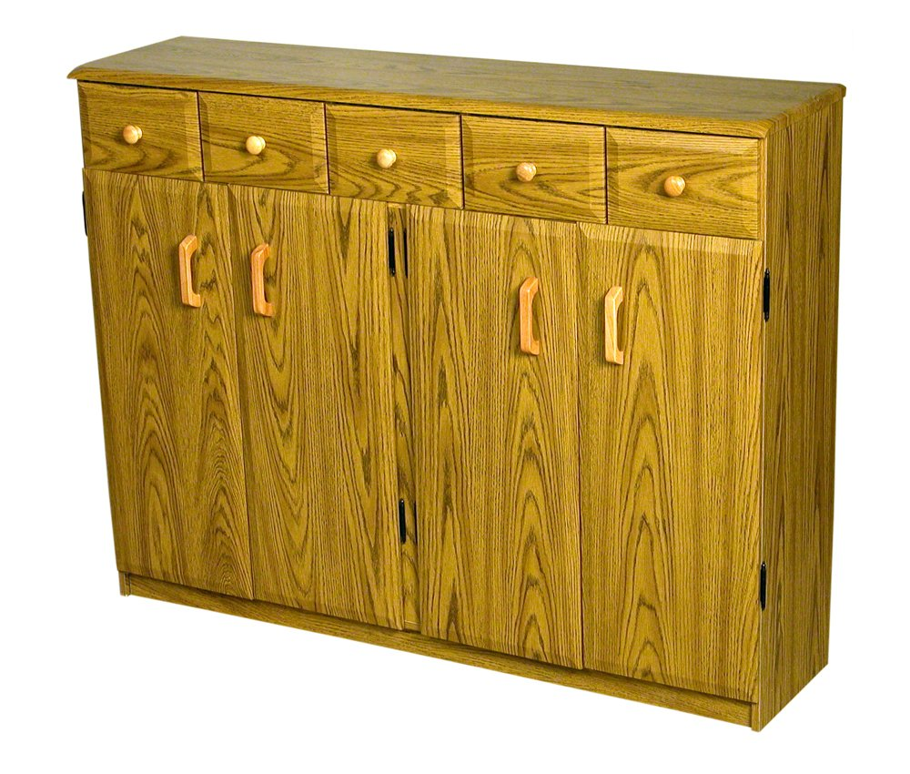 Amazon.com: Venture Horizon Media Cabinet W/Drawers -Cherry ...