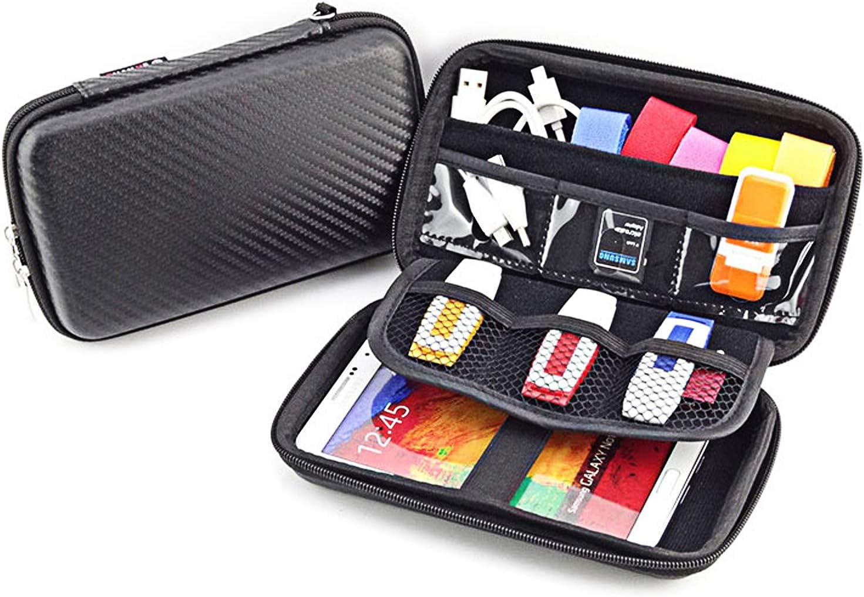 Paimio - Funda de Transporte para Disco Duro, Nintendo 3DS XL/LL PSP PSV, Fuente de alimentación, Unidad USB, Tarjeta SD, Cables USB: Amazon.es: Electrónica