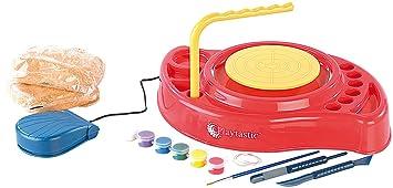 Playtastic Töpferset: Meine erste Töpferscheibe: Komplettset mit Ton & Farben (Töpferscheibe für Anfänger)